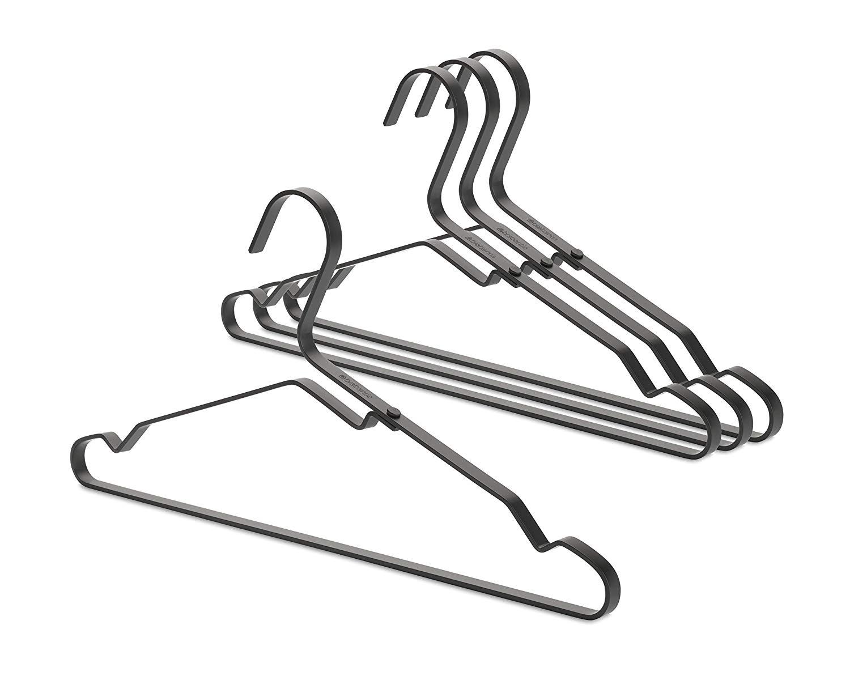 Онлайн каталог PROMENU: Набор плечиков для одежды Brabantia, алюминий, черный, 4 штуки                               118647