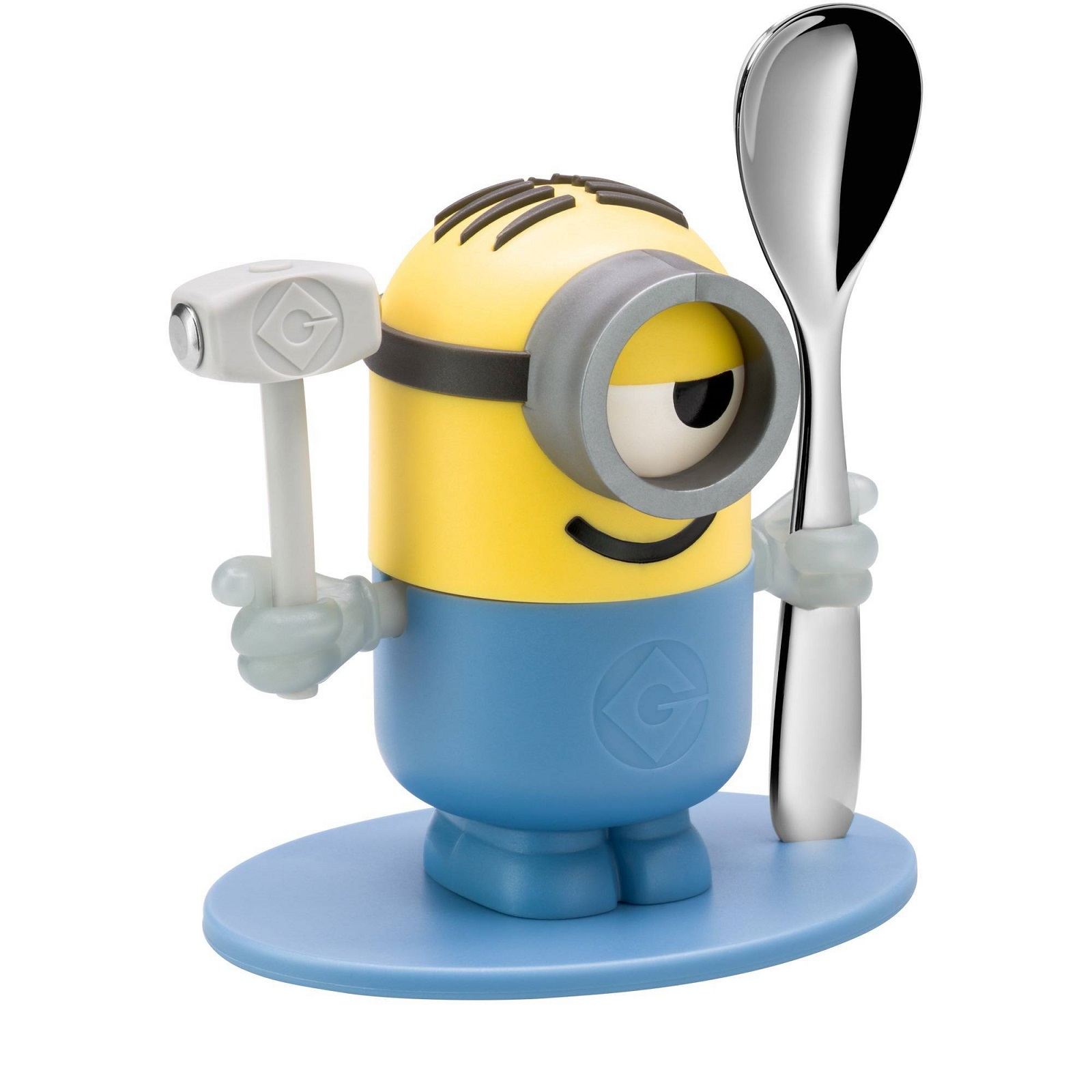"Онлайн каталог PROMENU: Набор детский: подставка для яйца и ложка ""Миньон"" WMF MINIONS, разноцветный, 2 предмета                               12 8622 6040"