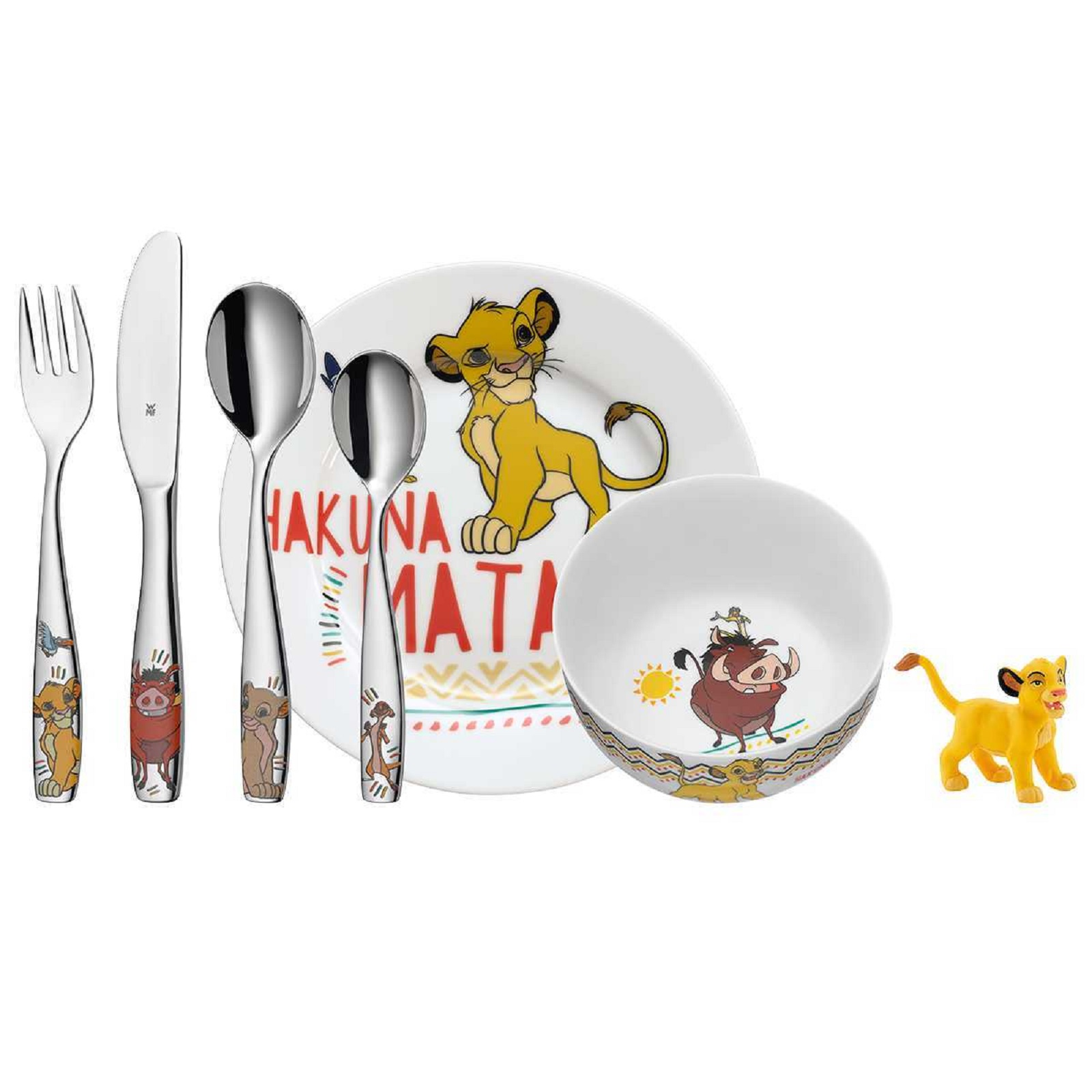 Онлайн каталог PROMENU: Набор посуды детский WMF LION KING, разноцветный, 6 предметов WMF 12 8604 9964