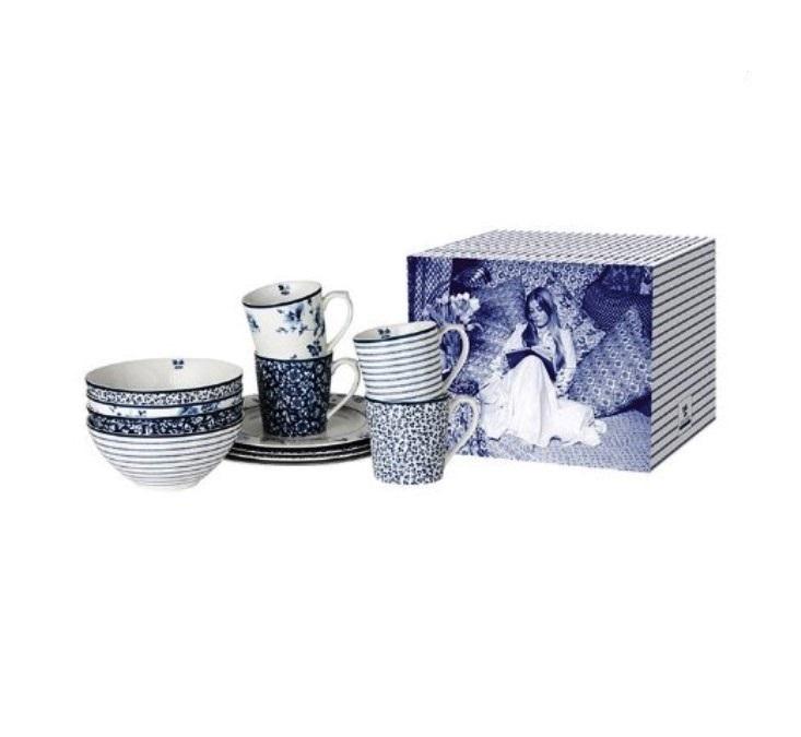 Онлайн каталог PROMENU: Набор посуды столовой Laura Ashley BLUEPRINT, синий, 12 предметов                               180341