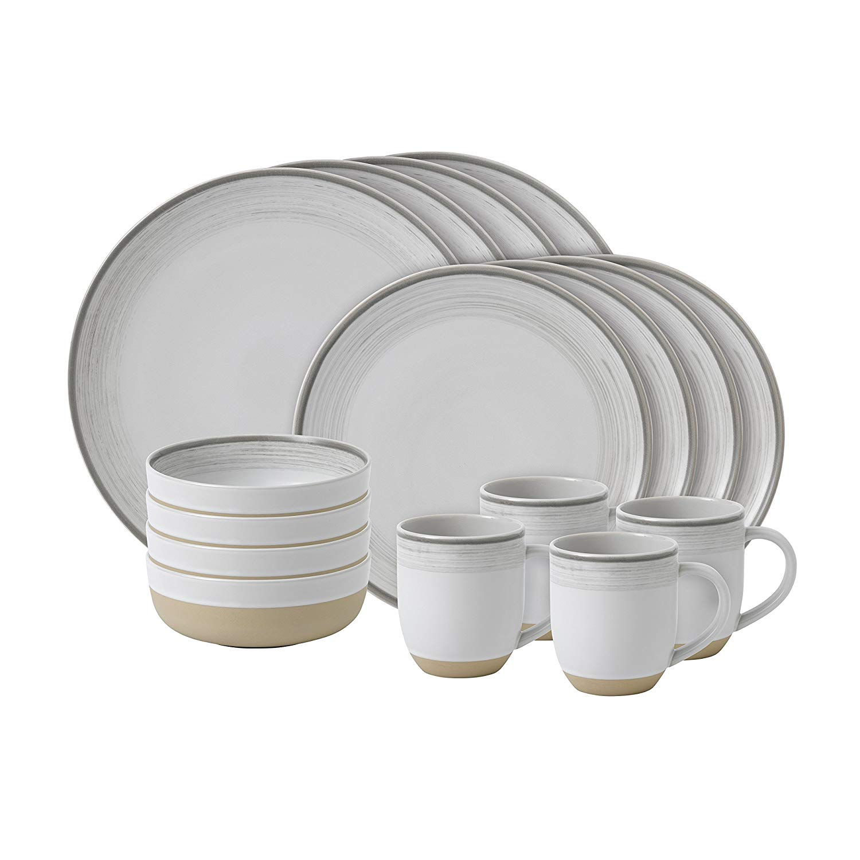Онлайн каталог PROMENU: Набор посуды столовой Royal Doulton Brushed Glaze White, керамика, белый, 16 предметов                                   40027653