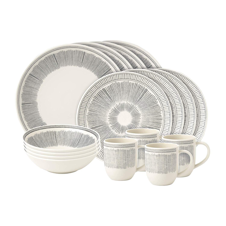 Онлайн каталог PROMENU: Набор посуды столовой Royal Doulton Grey Lines, фарфор, серый, 16 предметов                                   40027648