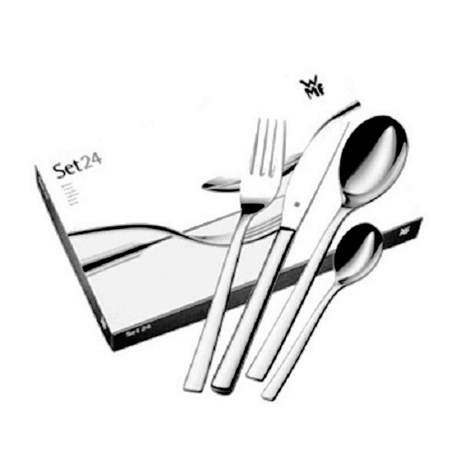 Набор приборов столовых WMF PALERMO, серебристый, 24 предмета WMF 11 7700 6043 фото 7