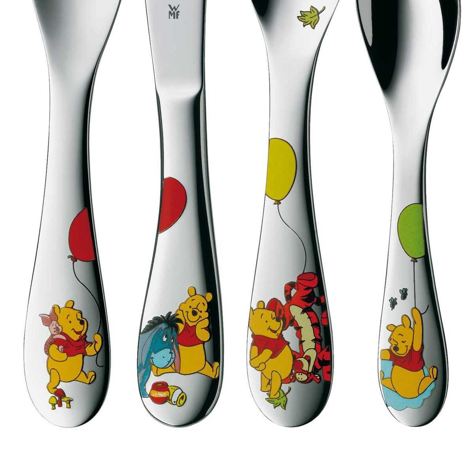 Набор приборов столовых 4 пр. детские WMF Winnie The Pooh  (12 8350 6040) WMF 12 8350 6040 фото 1