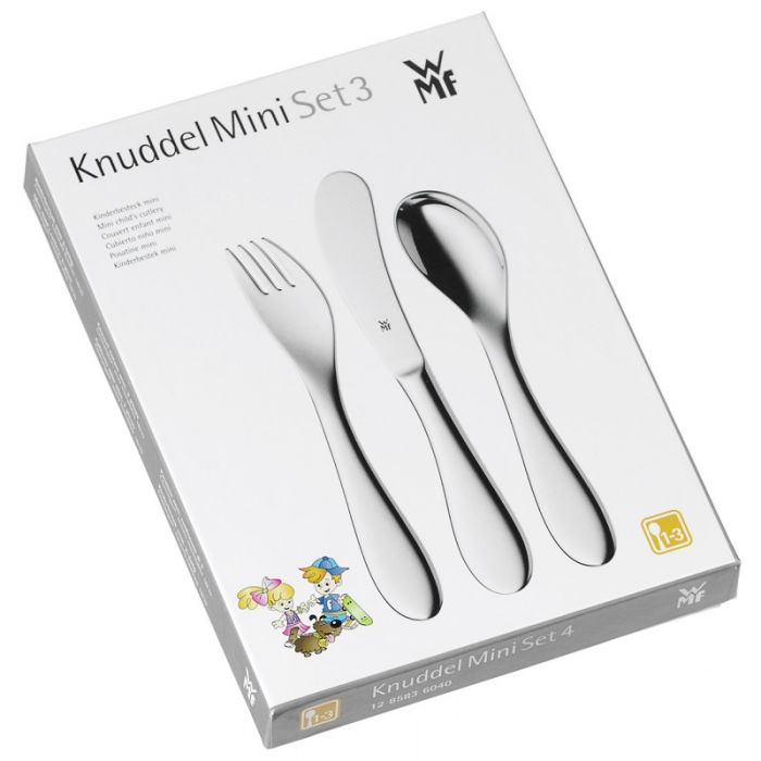 Набор приборов столовых детских WMF Knuddel, 3 предмета WMF 12 8583 6040 фото 1