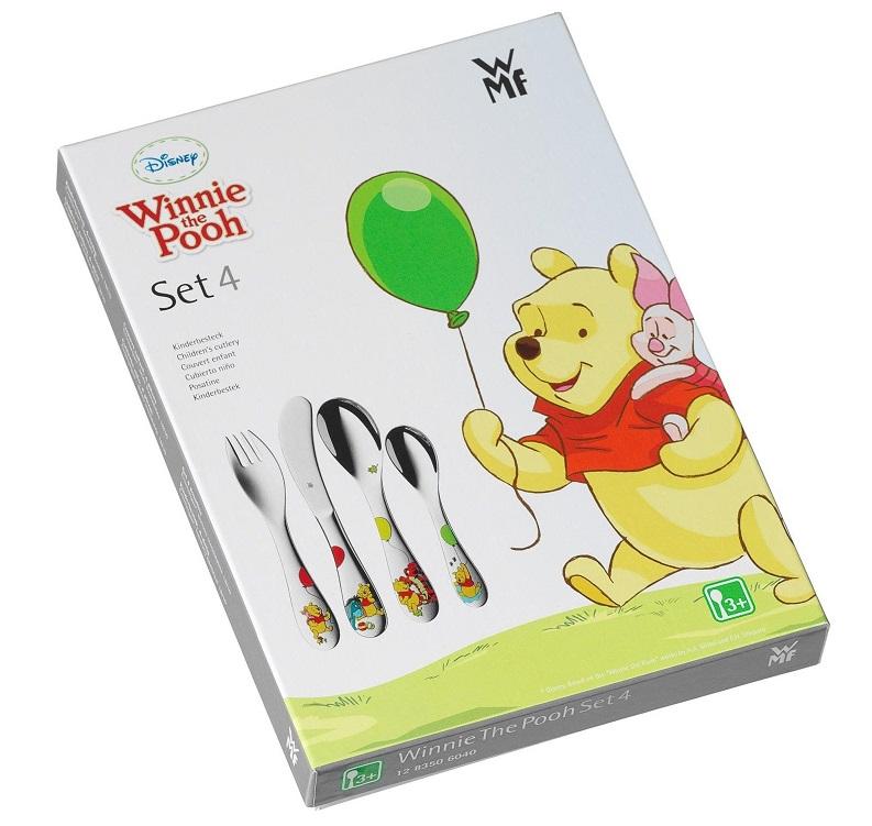 """Набор приборов столовых детских """"Винни-Пух и друзья"""" WMF Winnie The Pooh, серебристый, 3 предмета WMF 12 8351 6040 фото 1"""