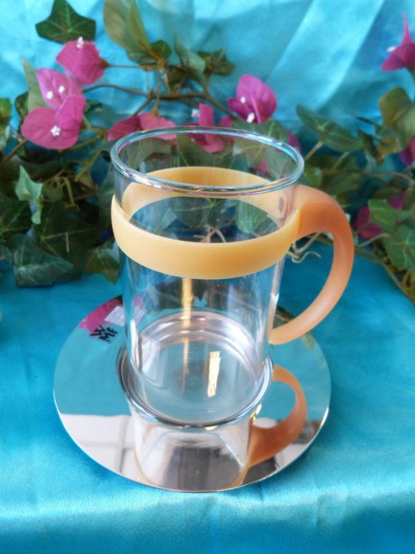 Набор стакан с костером WMF, прозрачный с серебристым, 2 предмета WMF 06 3612 6650 фото 3