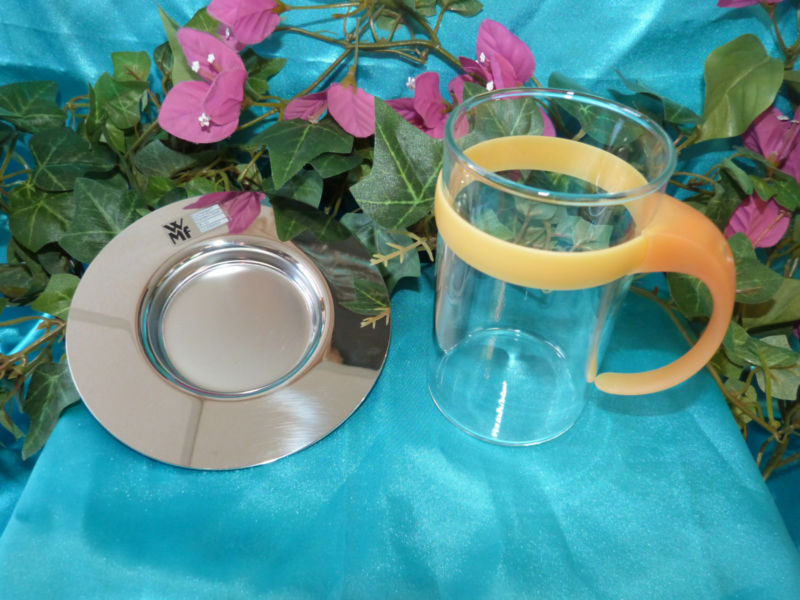 Онлайн каталог PROMENU: Набор стакан с костером WMF, прозрачный с серебристым, 2 предмета WMF 06 3612 6650