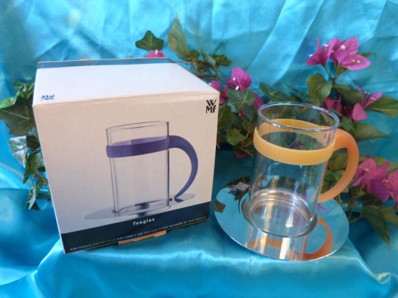 Набор стакан с костером WMF, прозрачный с серебристым, 2 предмета WMF 06 3612 6650 фото 1