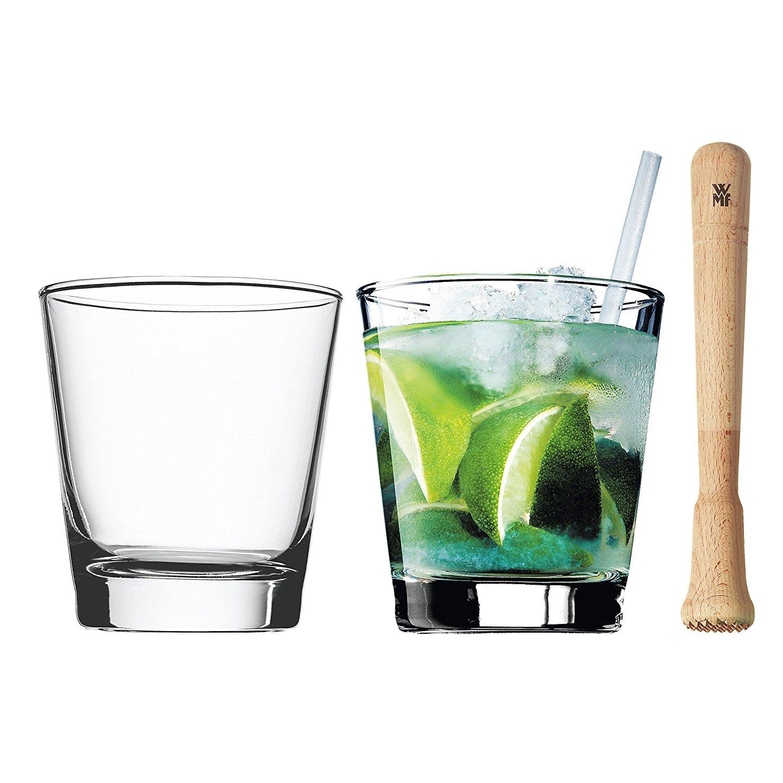 Набор стаканов с мадлером и трубочками для коктейля WMF, прозрачный WMF 09 9613 2040 фото 4