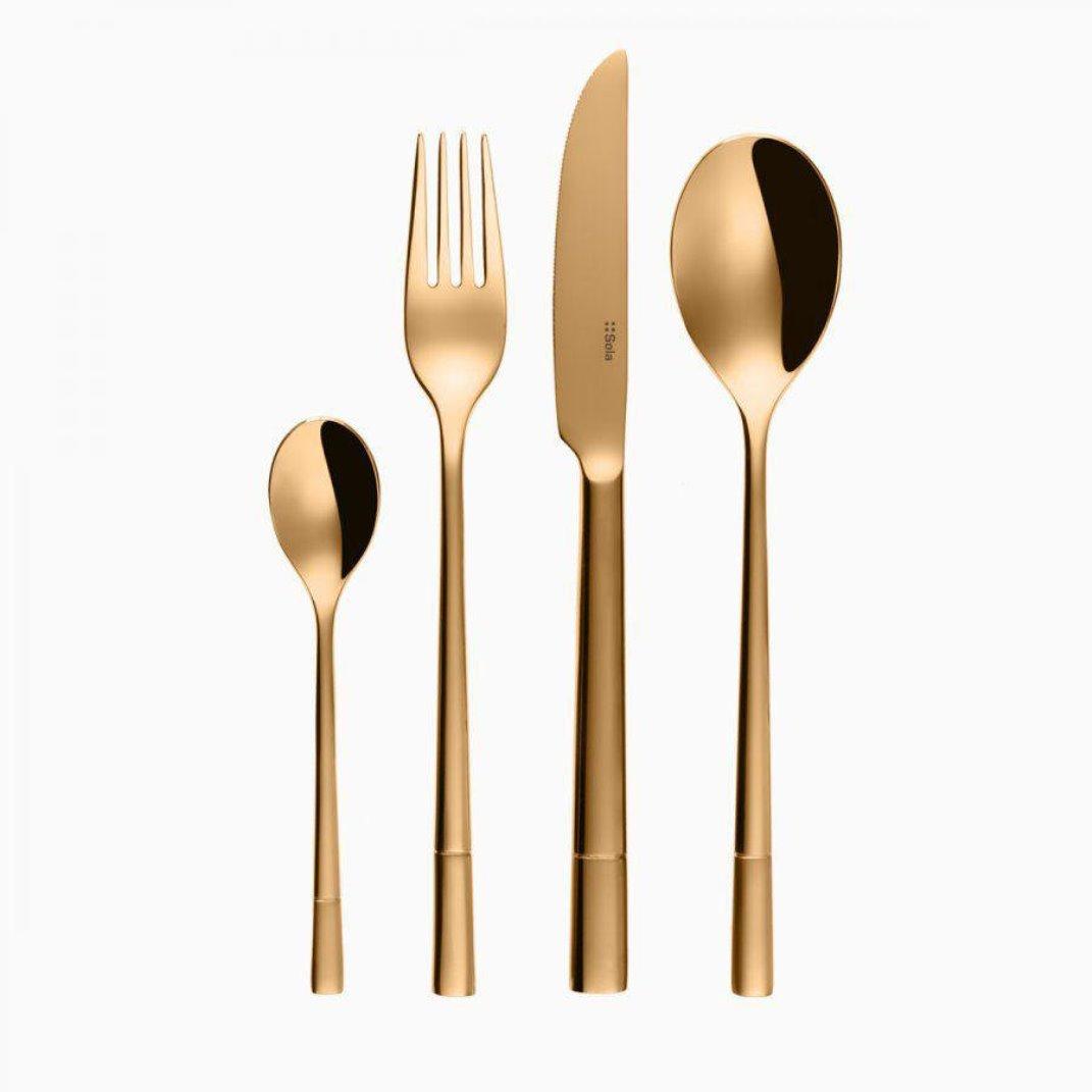 Онлайн каталог PROMENU: Набор столовых приборов Sola Switzerland LUXUS, золотистый, 24 предмета                               112584