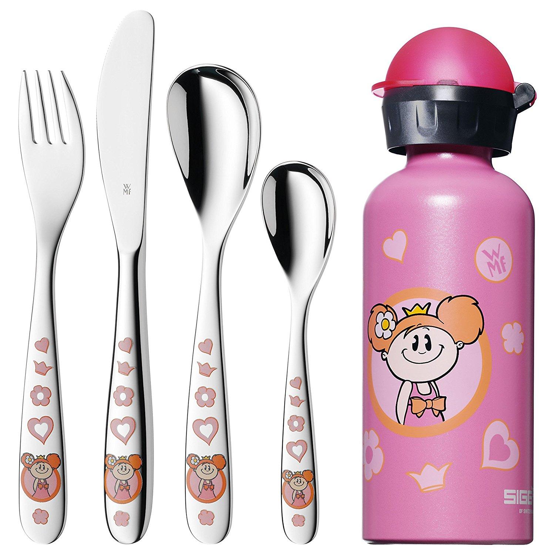 Онлайн каталог PROMENU: Набор столовый детский WMF PRINZESSIN, серебристый с розовым, 5 предметов WMF 12 8181 9980