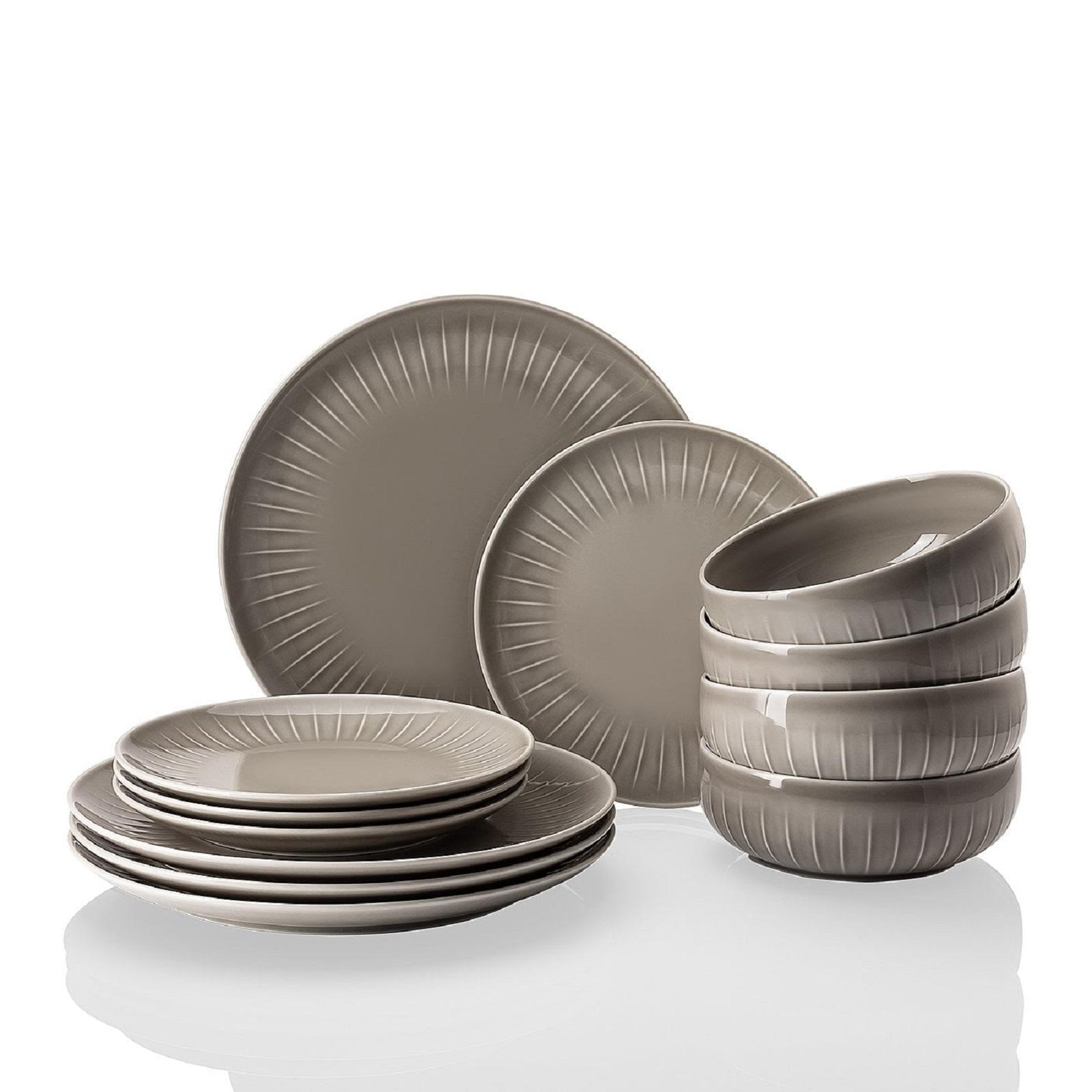 Онлайн каталог PROMENU: Набор посуды столовой Arzberg JOYN, серый, 12 предметов Arzberg 44020-640202-28650