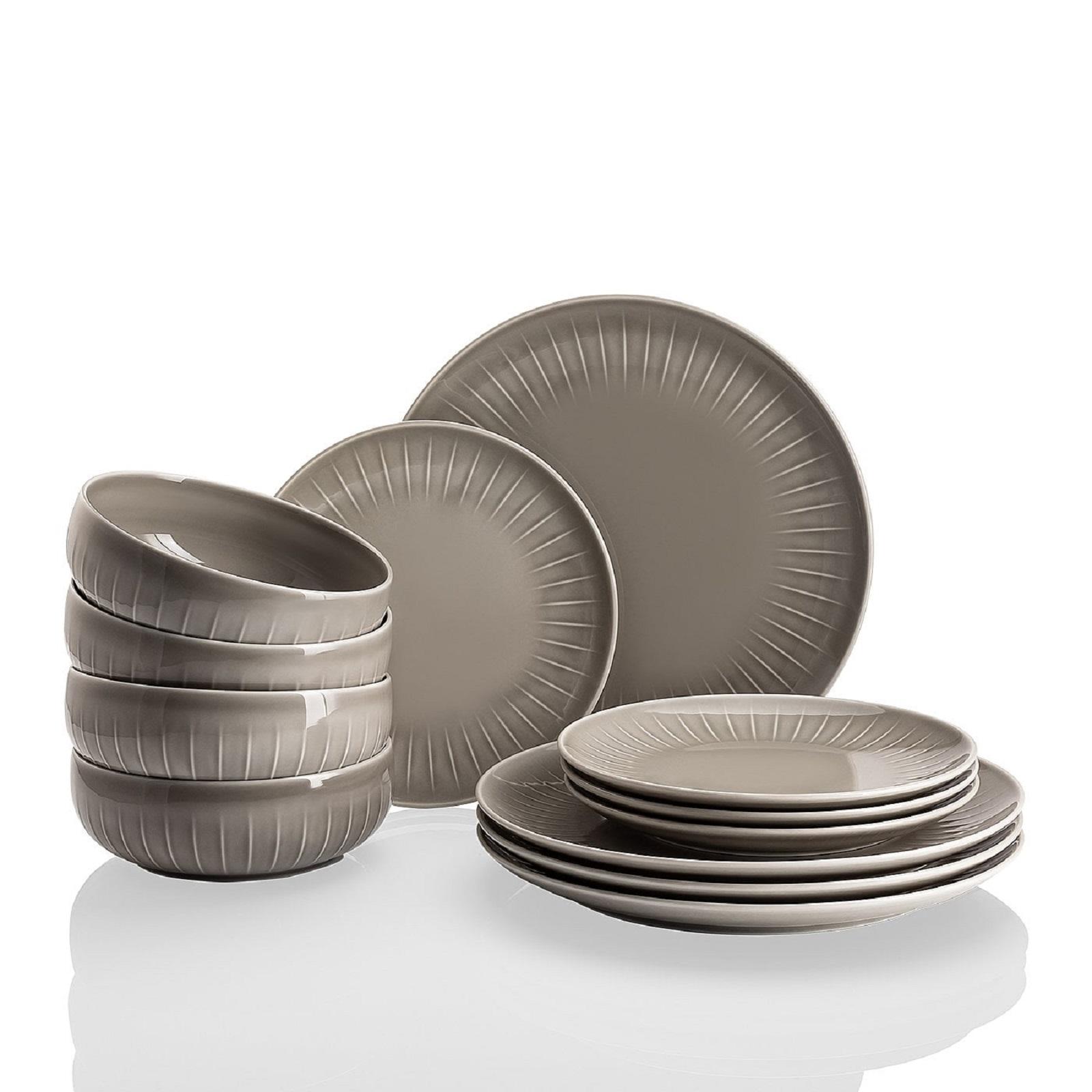 Набор посуды столовой Arzberg JOYN, серый, 12 предметов Arzberg 44020-640202-28650 фото 1