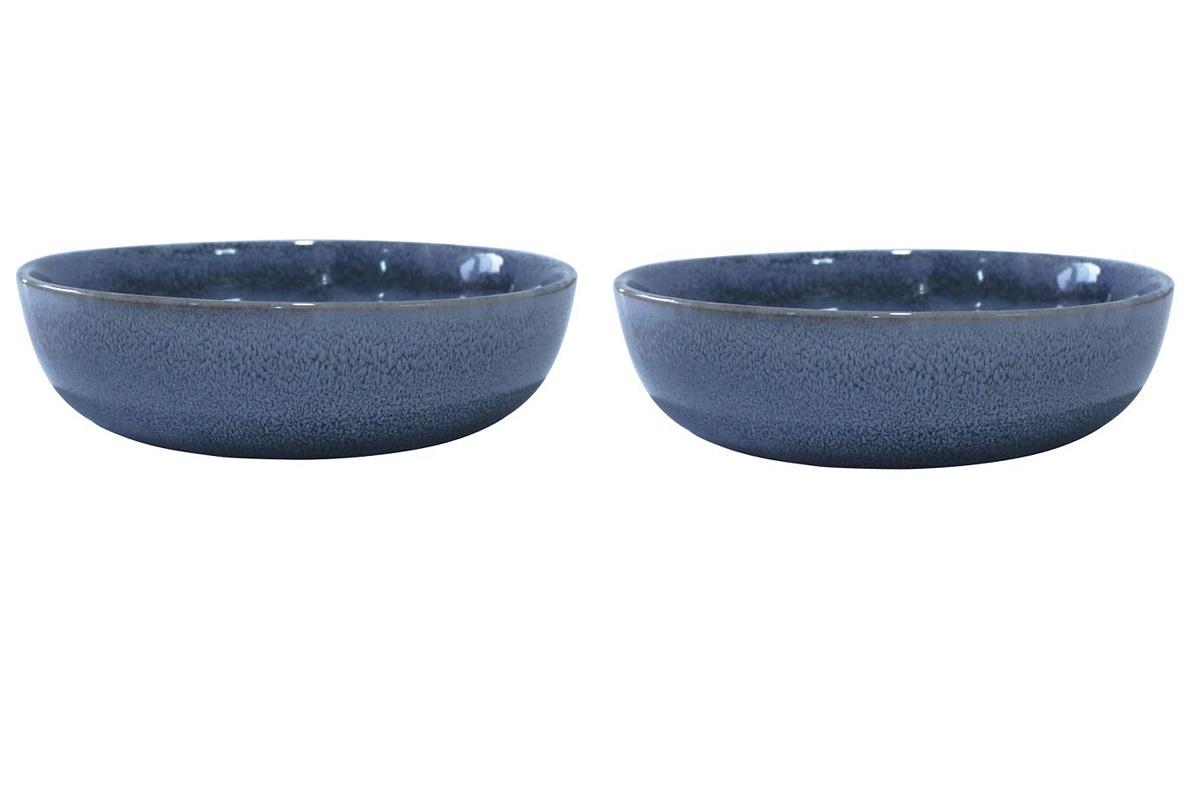 Онлайн каталог PROMENU: Набор тарелок глубоких Aida SOHOLM SONJA, диаметр 18 см, керамика, синий, 2 штуки                                   16284
