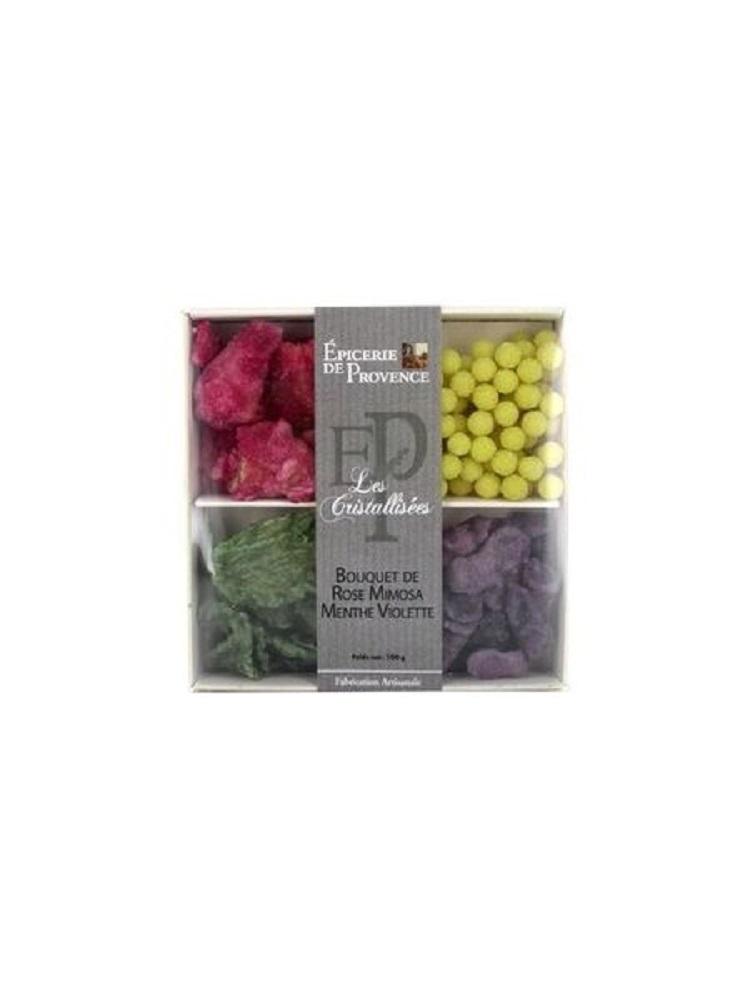 Онлайн каталог PROMENU: Набор засахаренных цветов и литьев мяты L'Epicerie de Provence, 100 гр L'Epicerie de Provence 19FCM016BT
