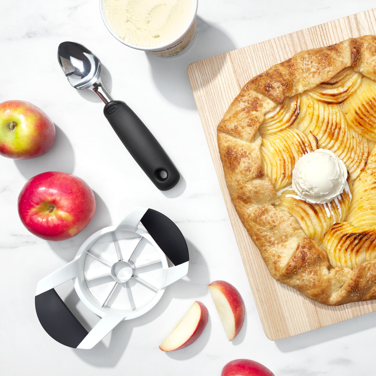 Нож для яблок OXO FRUIT & VEGETABLES, 11х6х22 см, белый OXO 32681 фото 6