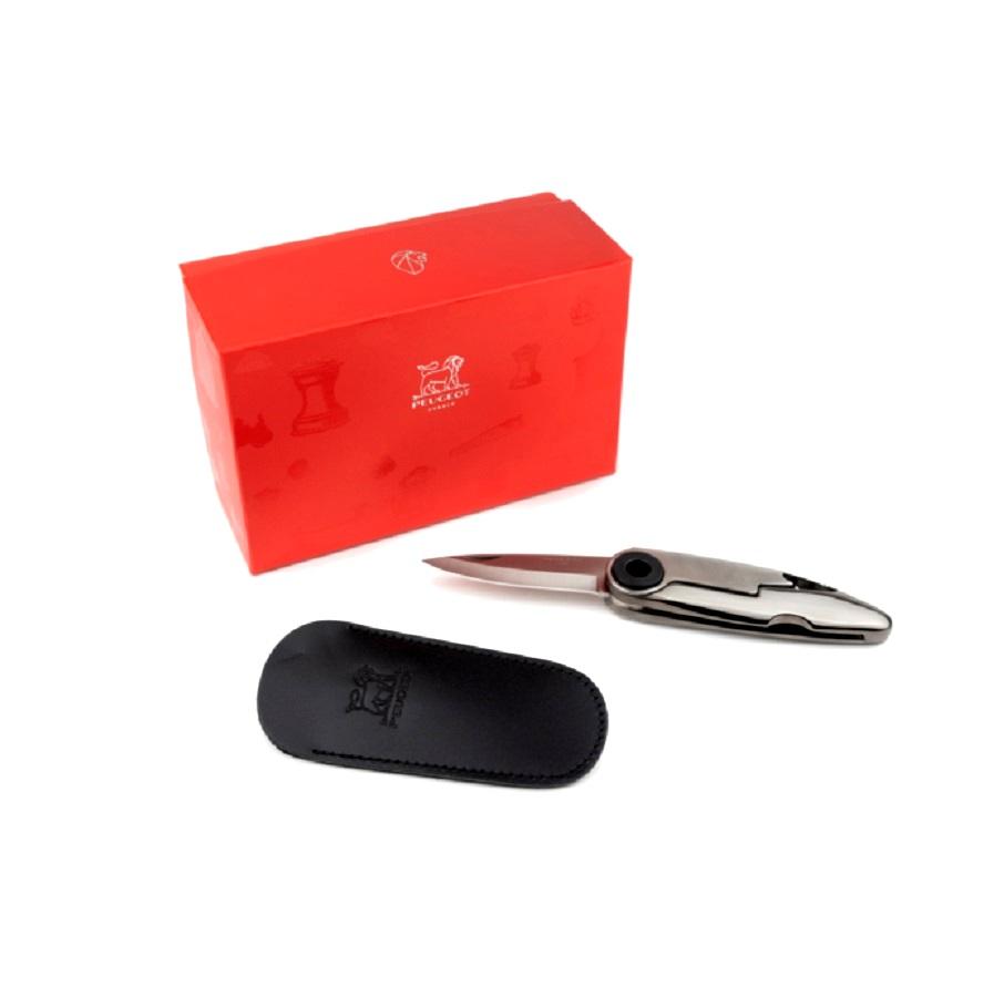 Онлайн каталог PROMENU: Набор: нож складной карманный Ixon со штопором в кожанном чехле в подарочной упаковке Peugeot SUMMER-FALL PACKS                               200626