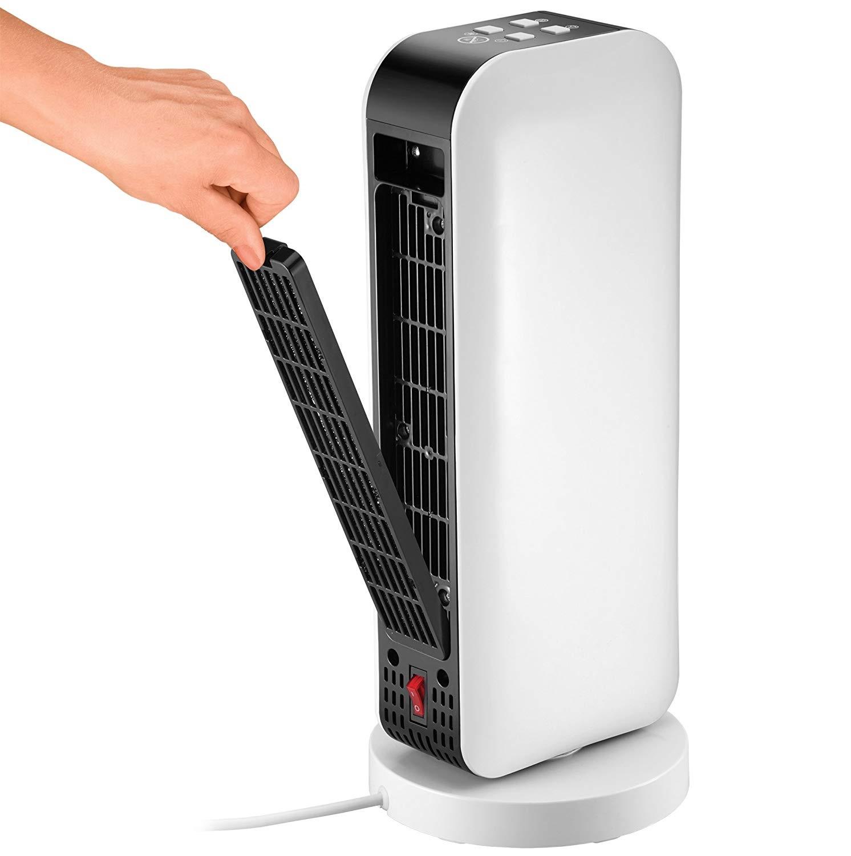 Обогреватель керамический со светодиодным дисплеем и таймером Unold, 17,5x17,9x43 см, белый Unold 86430 фото 2