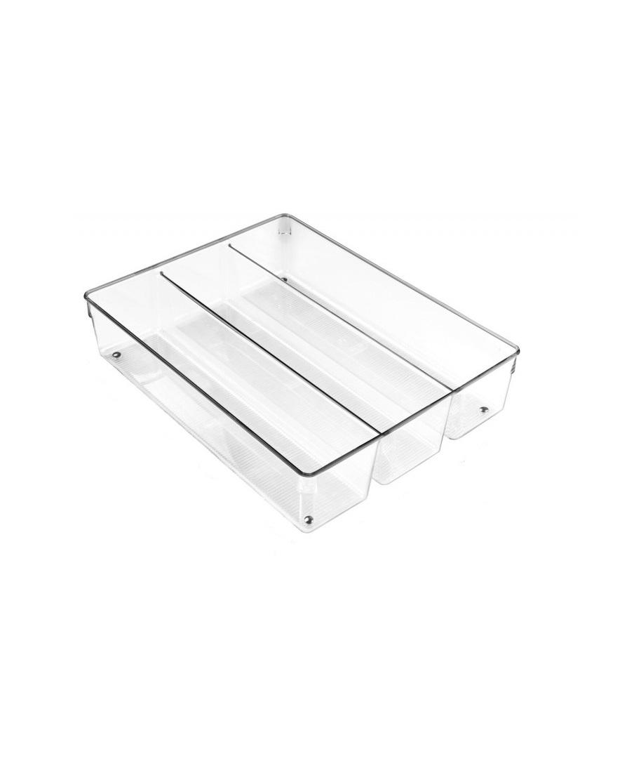 Онлайн каталог PROMENU: Органайзер для кухонных принадлежностей iDesign LINUS, 34,8х26,7х7,6 см, BPA-free пластик, прозрачный                                   56330EU