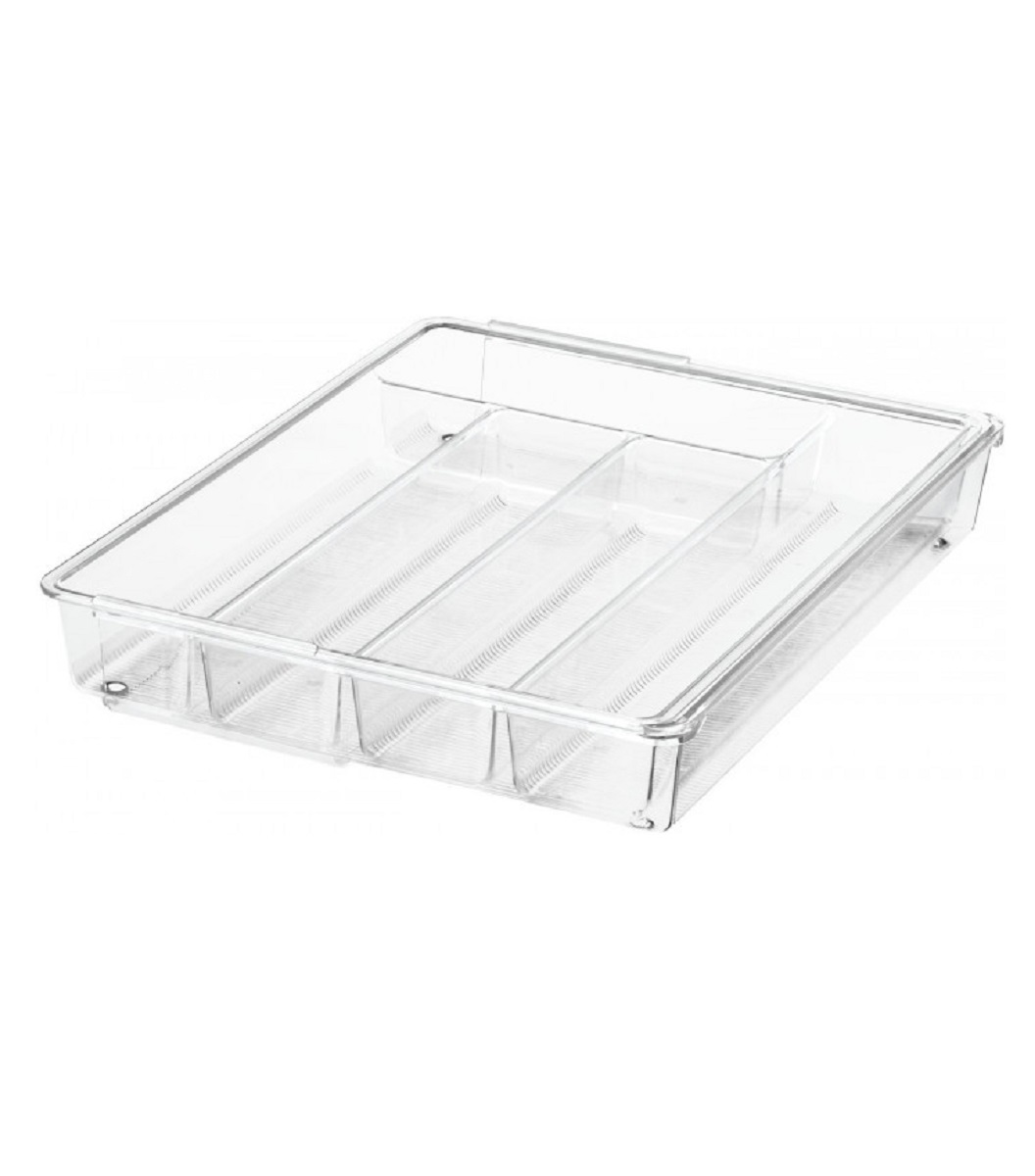 Онлайн каталог PROMENU: Органайзер для кухонных принадлежностей iDesign LINUS, 36,6х28,7х5,8 см, BPA-free пластик, прозрачный                                   57430EU