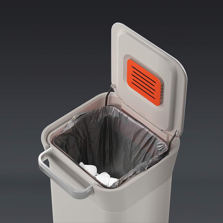 Органайзер для мусора Joseph Joseph INTELLEGENT WASTE, 30,2х34,4х68,4 см, объем 20 л, бежевый Joseph Joseph 30039 фото 8