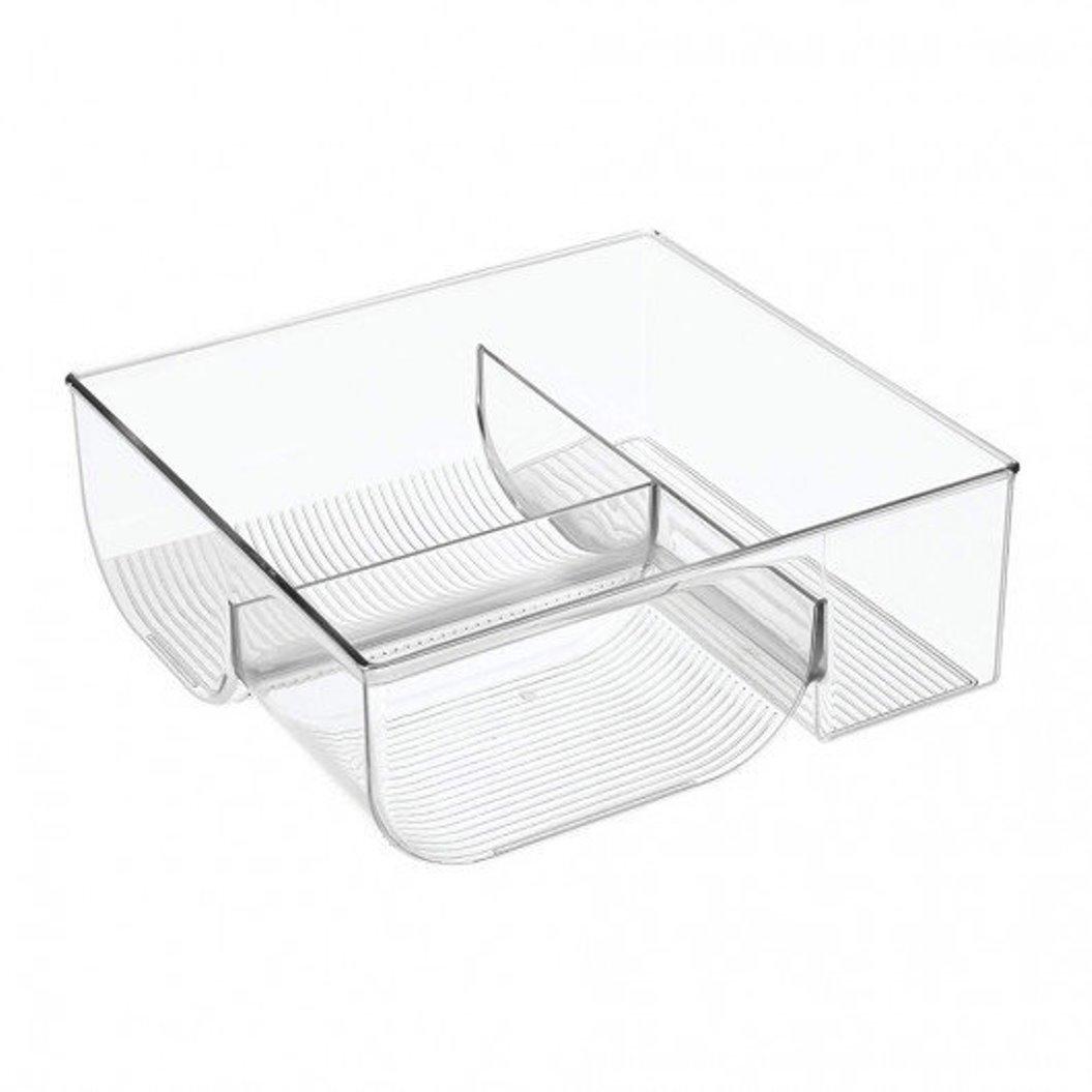 Онлайн каталог PROMENU: Органайзер для посуды на 3 секции iDesign BINZ, 29,1х27,6х10,3 см, BPA-free пластик, прозрачный Interdesign 64110EU
