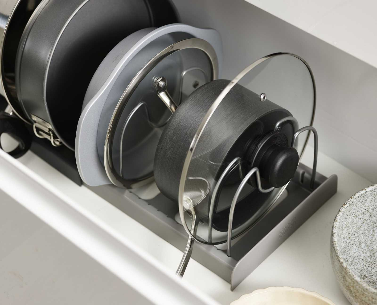 Органайзер для сушки посуды раскладной Joseph Joseph DRAWERSTORE, серый Joseph Joseph 85167 фото 2