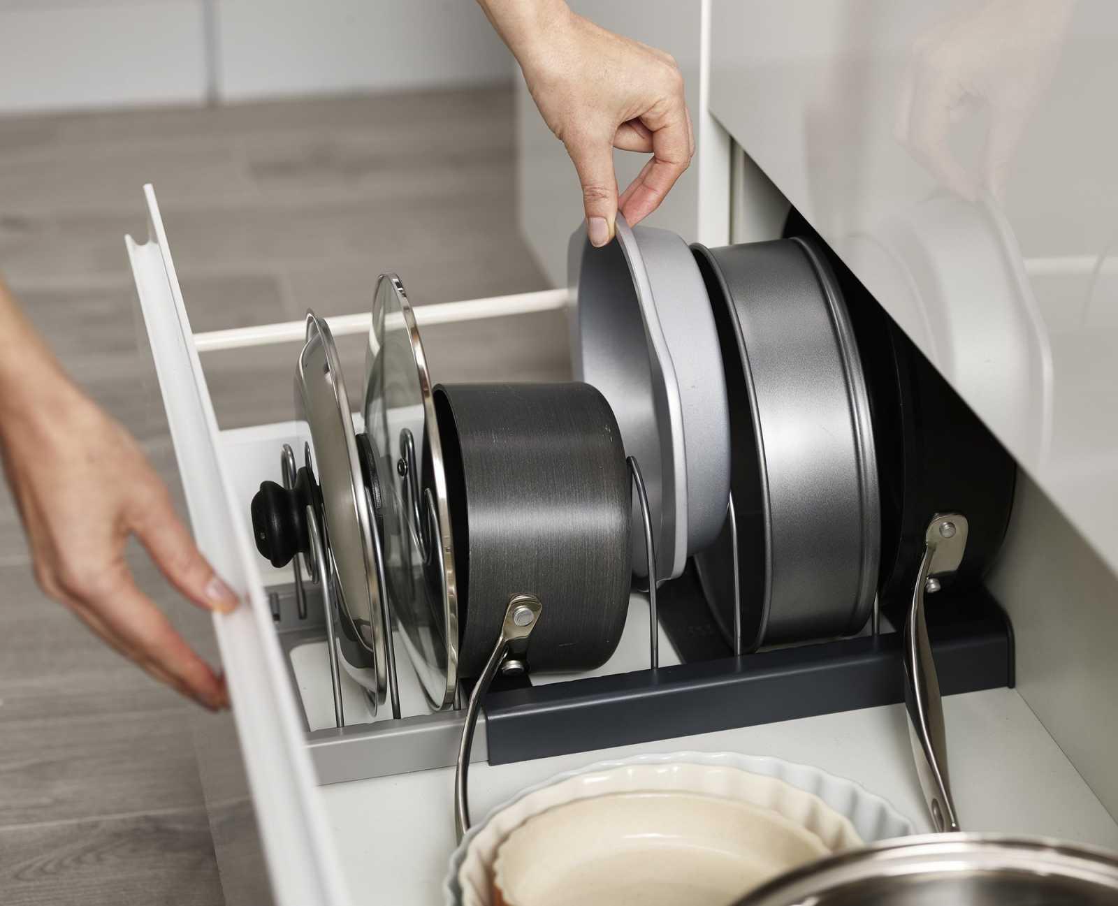 Органайзер для сушки посуды раскладной Joseph Joseph DRAWERSTORE, серый Joseph Joseph 85167 фото 1