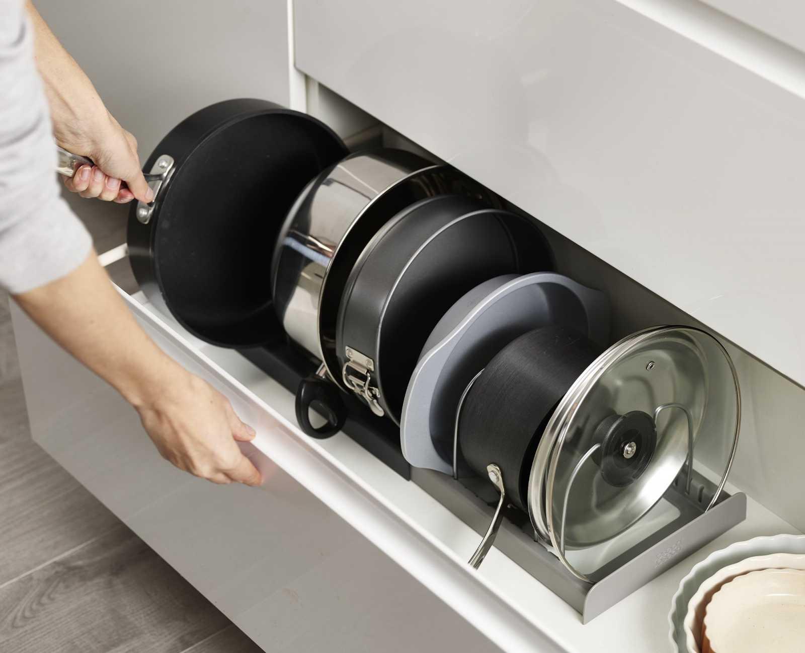 Органайзер для сушки посуды раскладной Joseph Joseph DRAWERSTORE, серый Joseph Joseph 85167 фото 3