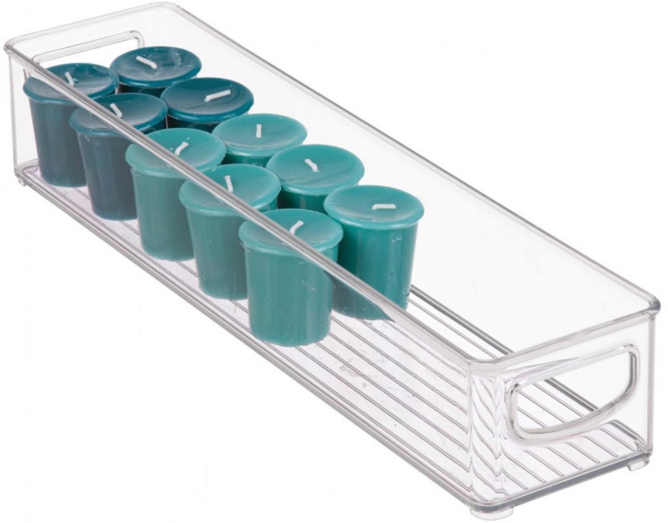 Онлайн каталог PROMENU: Органайзер кухонный iDesign CABINET/KITCHEN BINZ, 40,6х10,2х7,6 см, BPA-free пластик, прозрачный                                   64199EU