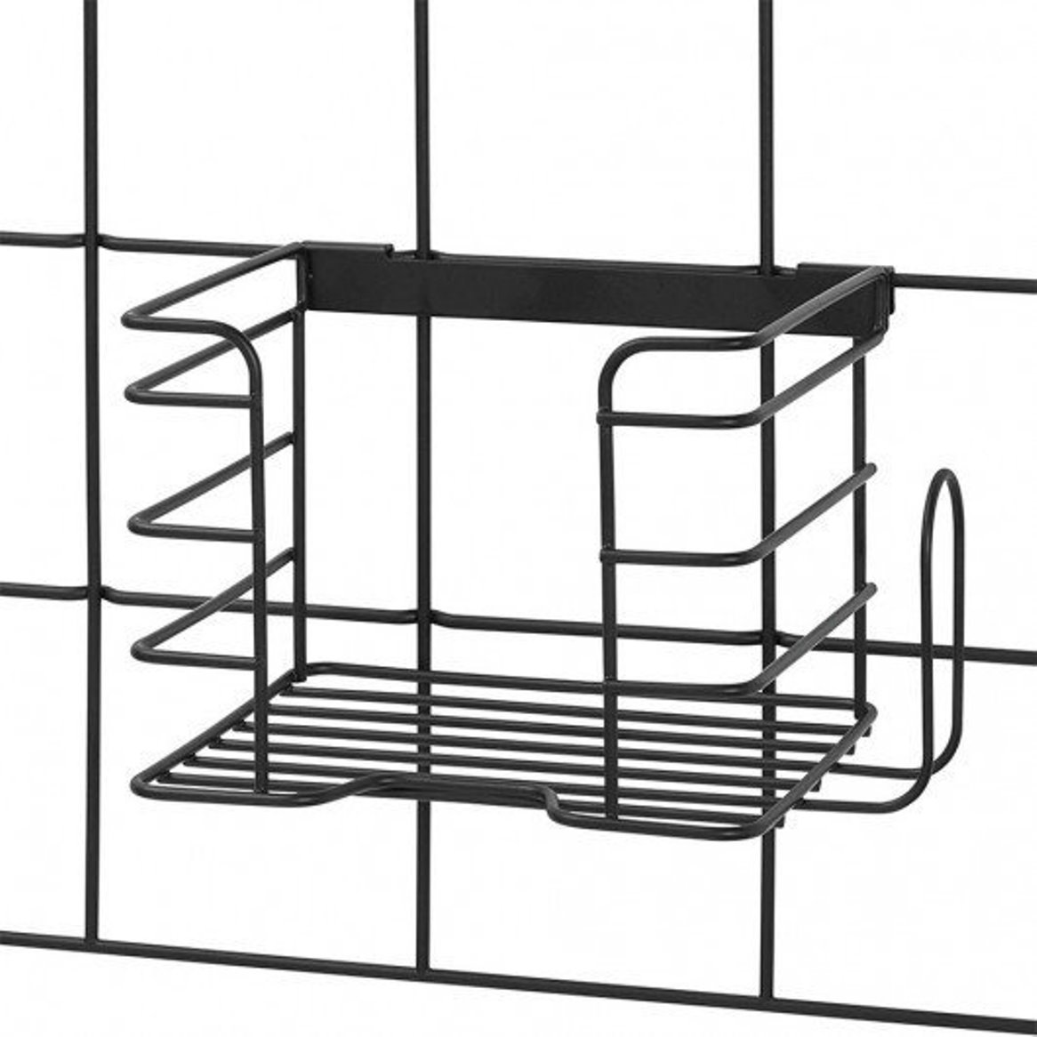 Онлайн каталог PROMENU: Органайзер настенный металлический для утюга iDesign JAYCE, 20,8х15,3х15,1 см, черный Interdesign 08107EU