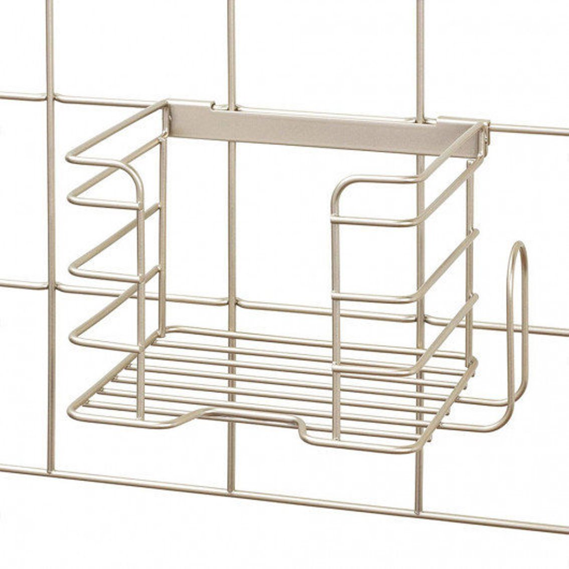 Онлайн каталог PROMENU: Органайзер настенный металлический для утюга iDesign JAYCE, 20,8х15,3х15,1 см, бежевый Interdesign 08105EU