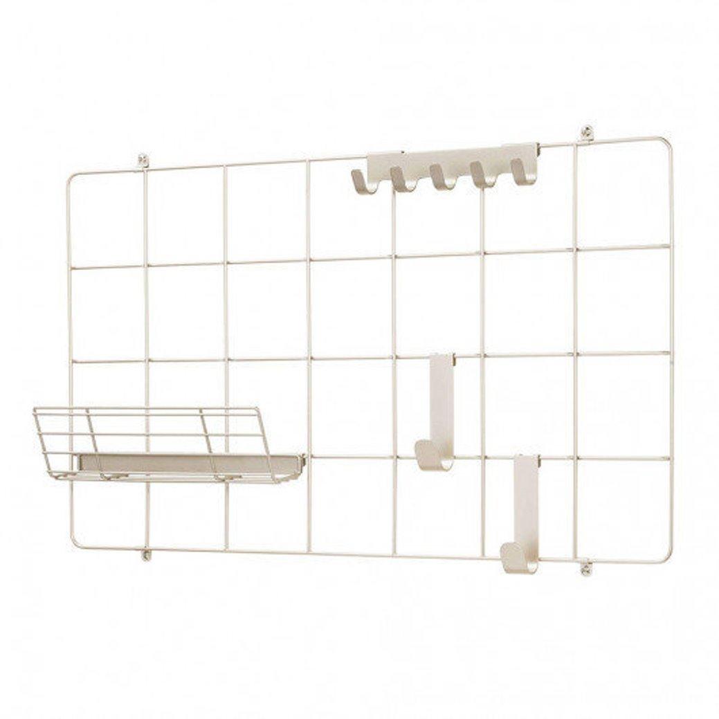 Онлайн каталог PROMENU: Органайзер настенный металлический iDesign JAYCE, 42х6,5х72 см, белый Interdesign 08015EU