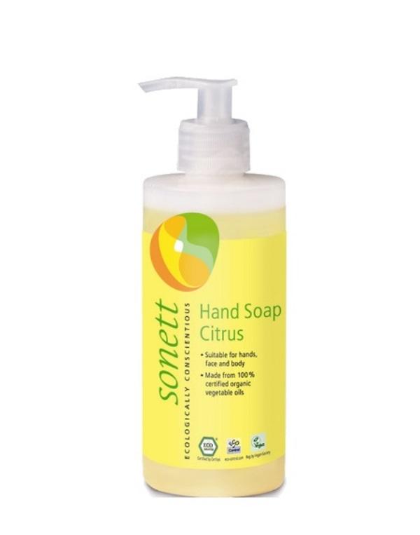 Онлайн каталог PROMENU: Мыло жидкое органическое с лимонным запахом Sonett, объем 0,3 л Sonett GB3024