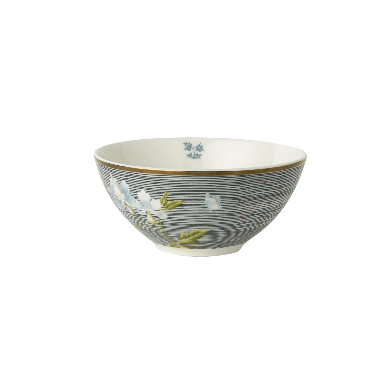 """Онлайн каталог PROMENU: Пиала """"Цветы"""" Laura Ashley HERITAGE, диаметр 13 см, синяя полоска с цветком                               180468"""