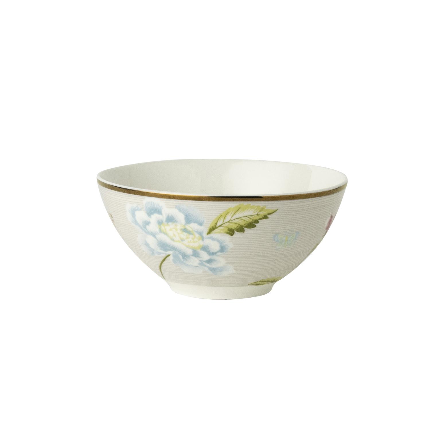 "Онлайн каталог PROMENU: Пиала ""Цветы"" Laura Ashley HERITAGE, диаметр 13 см, серый с цветком                               180515"
