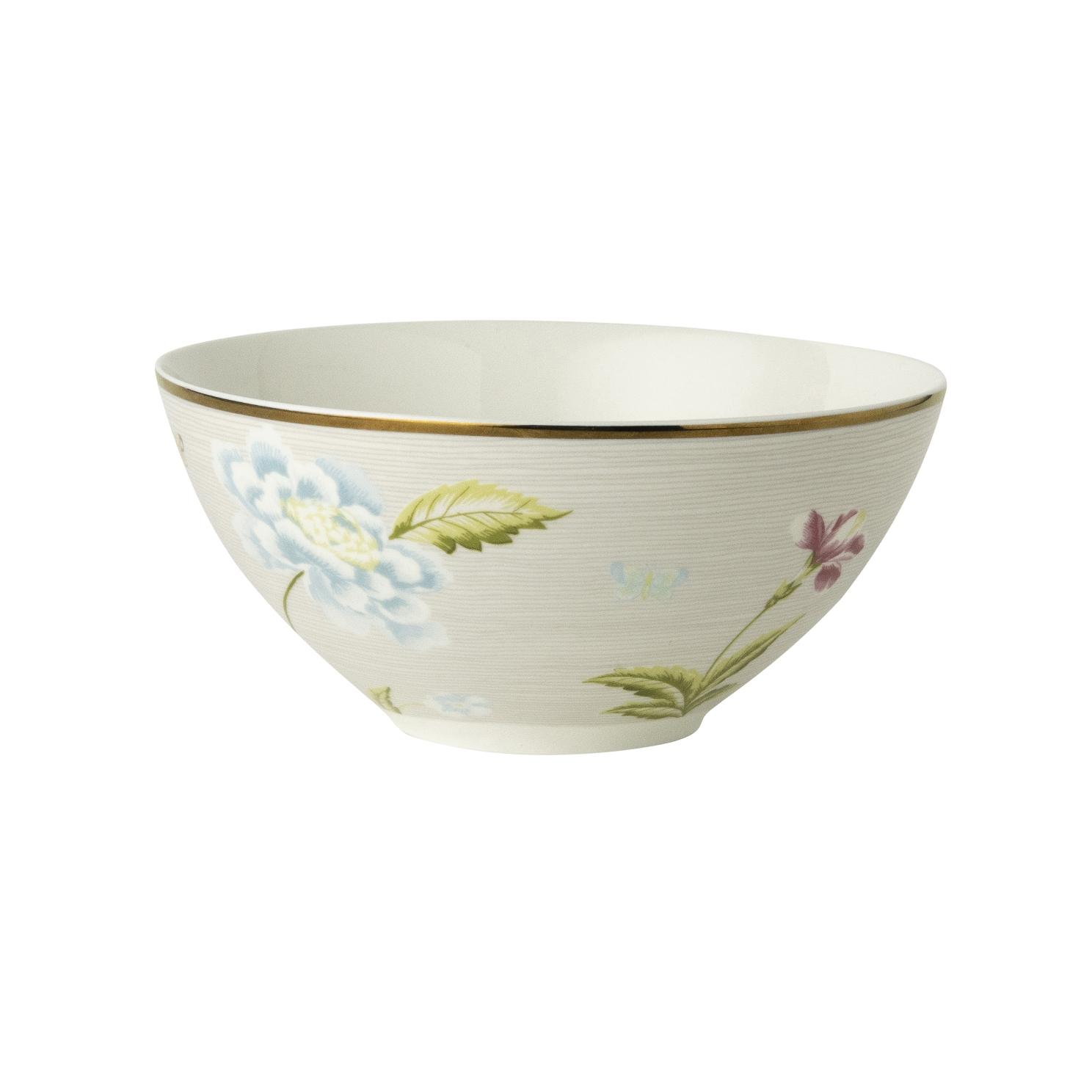 "Онлайн каталог PROMENU: Пиала ""Цветы"" Laura Ashley HERITAGE, диаметр 16 см, серый с цветами                               180516"