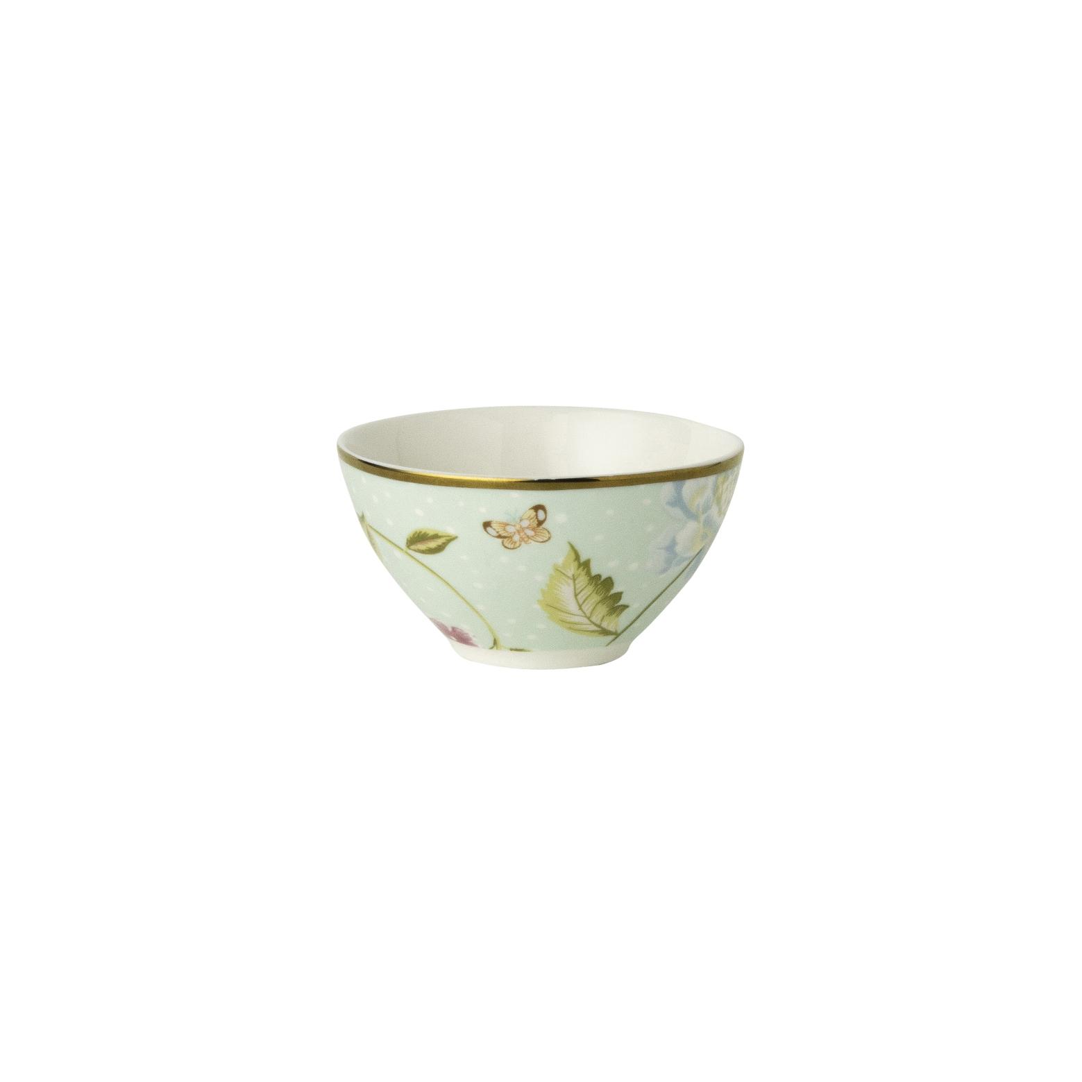 "Онлайн каталог PROMENU: Пиала ""Цветы"" Laura Ashley HERITAGE, диаметр 9 см, мятный с цветком                               180465"