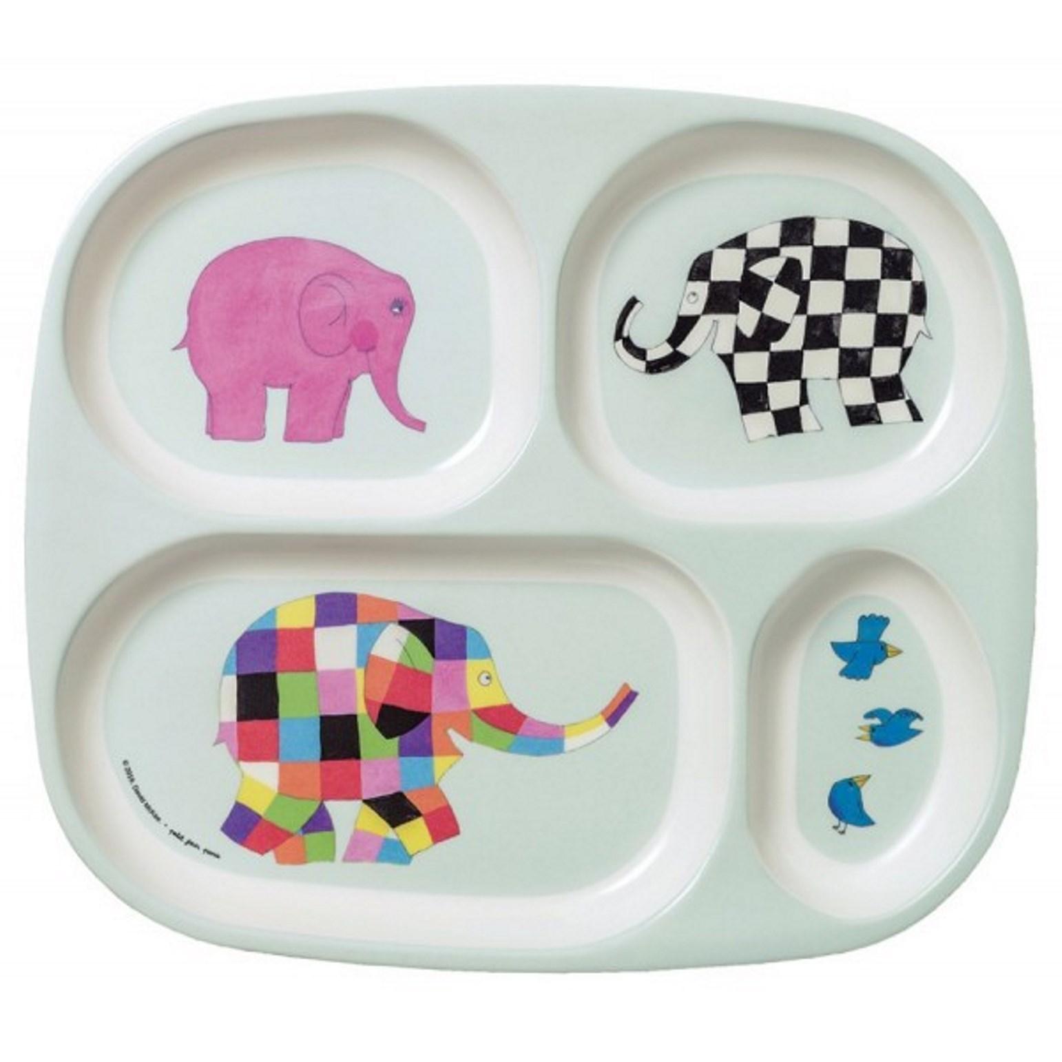 """Онлайн каталог PROMENU: Поднос с 4 отделениями """"Животные"""" Maison Petit Jour ELMER, разноцветный                               EL935P"""
