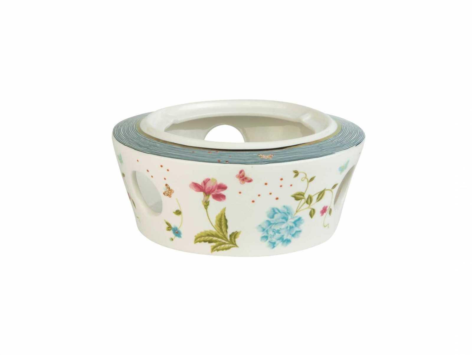 Онлайн каталог PROMENU: Подставка для чайника с подогревом Laura Ashley HERITAGE, белый с цветами и бабочками                               181231