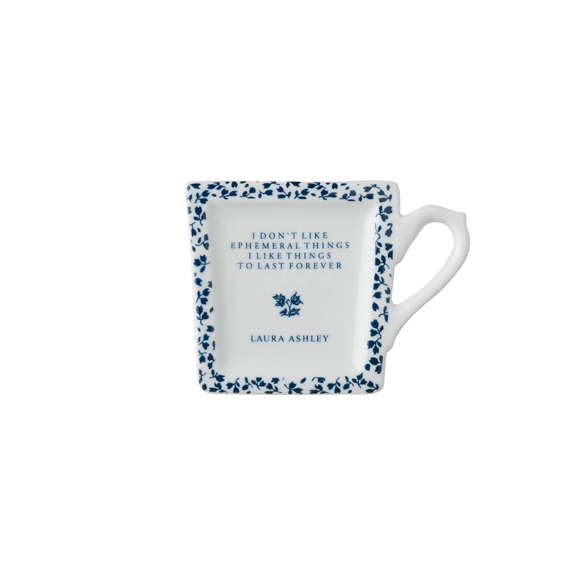 Онлайн каталог PROMENU: Подставка фарфоровая для чайных пакетиков Laura Ashley BLUEPRINT, белый в синий мелкий цветок                               178313