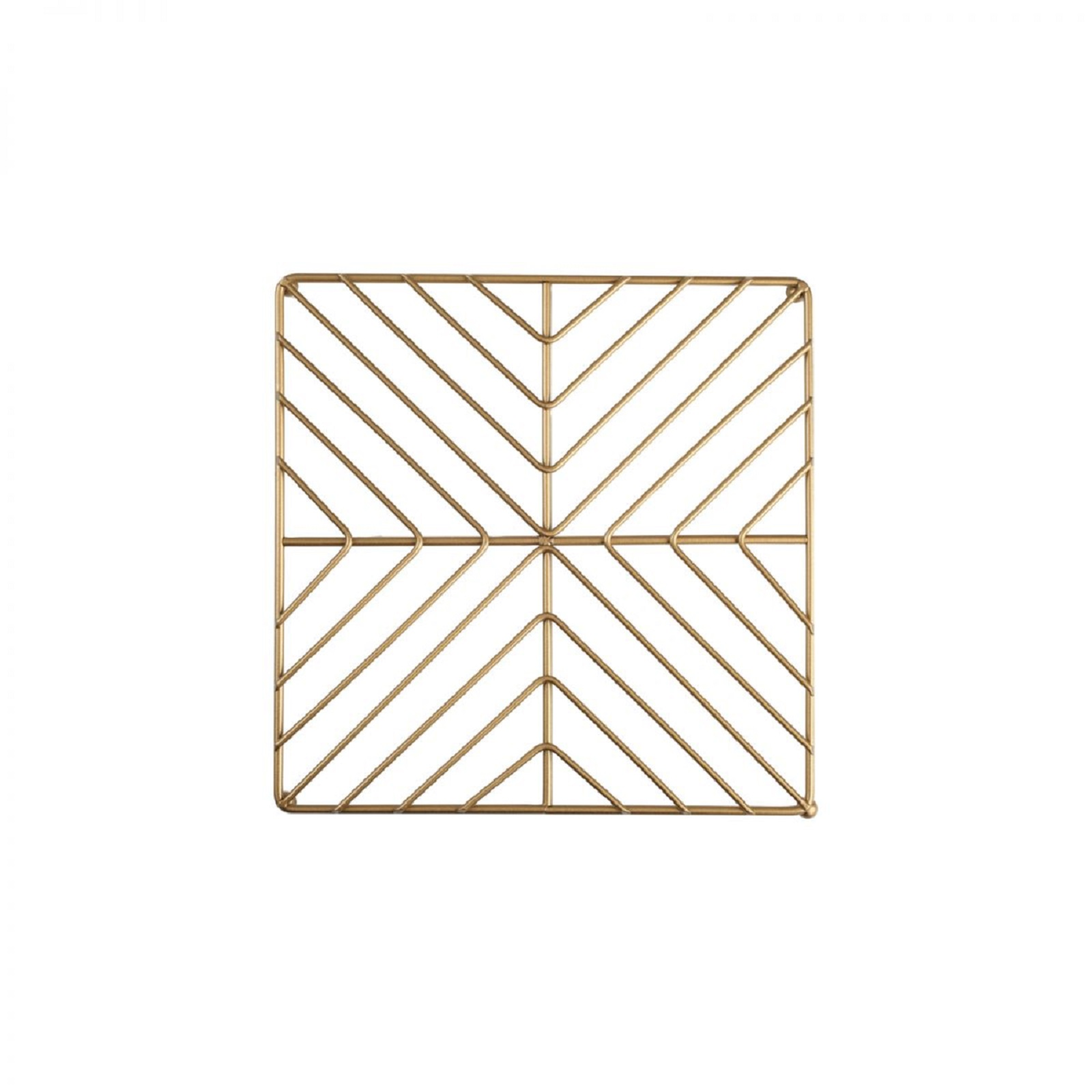 Онлайн каталог PROMENU: Подставка под горячее металлическая T&G DECO, 22х22 см, золотистый  23090