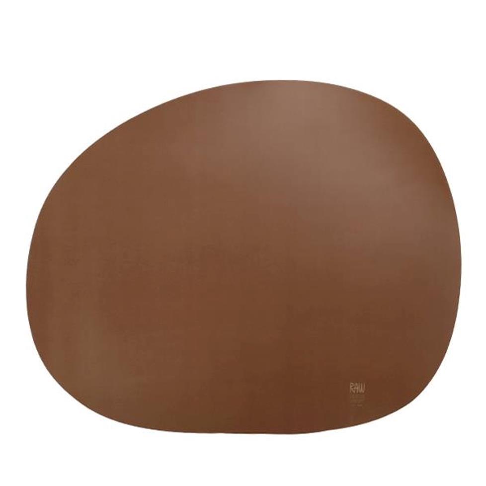 Онлайн каталог PROMENU: Подставка силиконовая под тарелку Aida RAW, 41х33,5 см, коричневая                                   15442