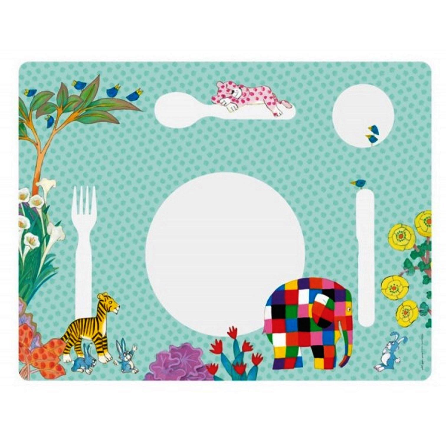 """Онлайн каталог PROMENU: Подставка под тарелку """"Животные"""" Maison Petit Jour ELMER, голубой                               EL914H"""