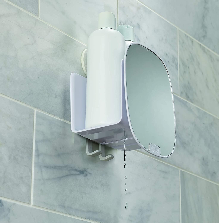 Полочка для душевых кабин с регулируемым зеркалом Joseph Joseph EASYSTORE, белый Joseph Joseph 70547 фото 4
