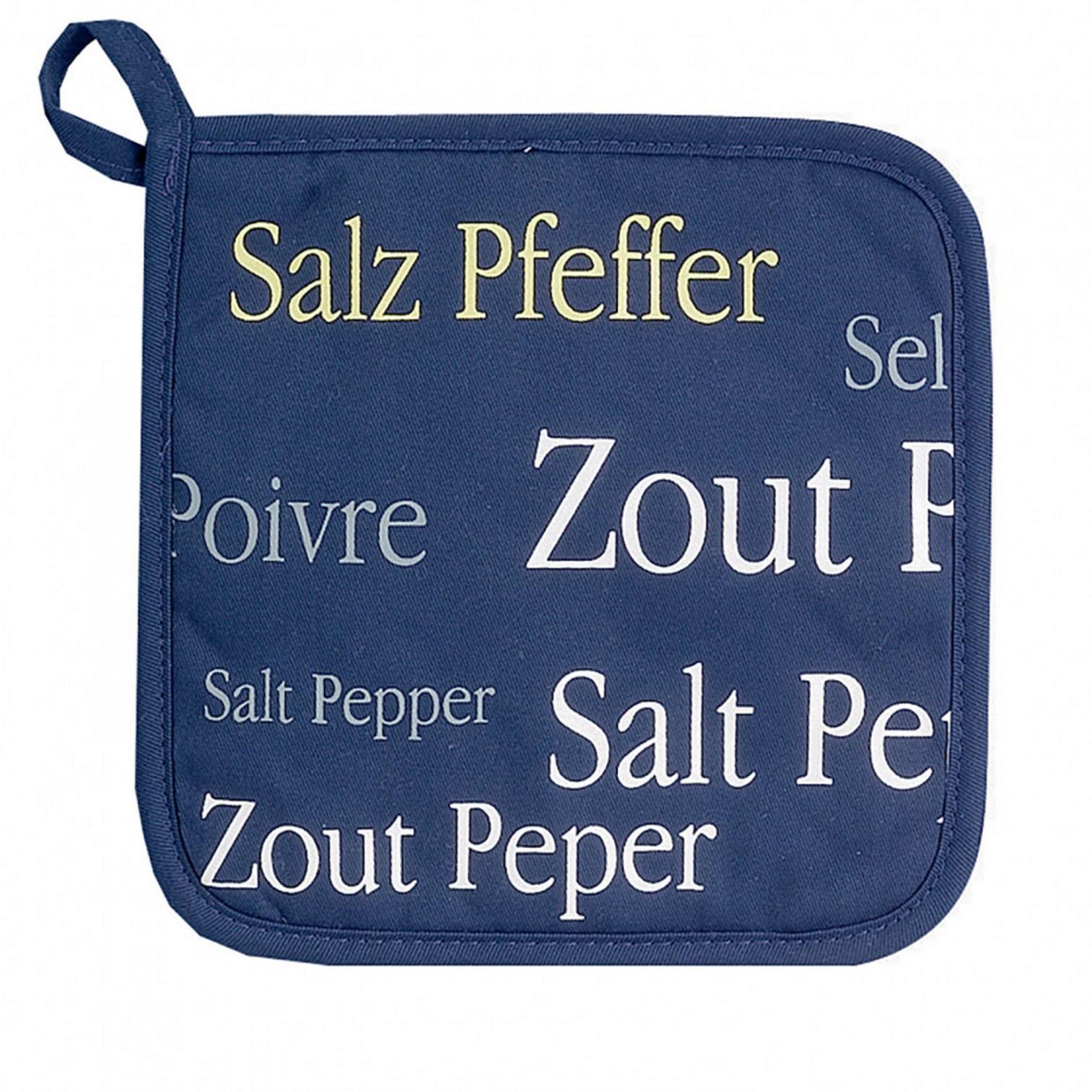 Онлайн каталог PROMENU: Прихватка Winkler SEL & POIVRE, 20х20 см, синий с буквами                               2248 060 000