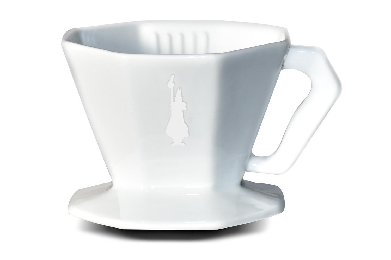 Онлайн каталог PROMENU: Пуровер керамический Bialetti POUR OVER CERAMIC на 2 чашки, белый                               0006366