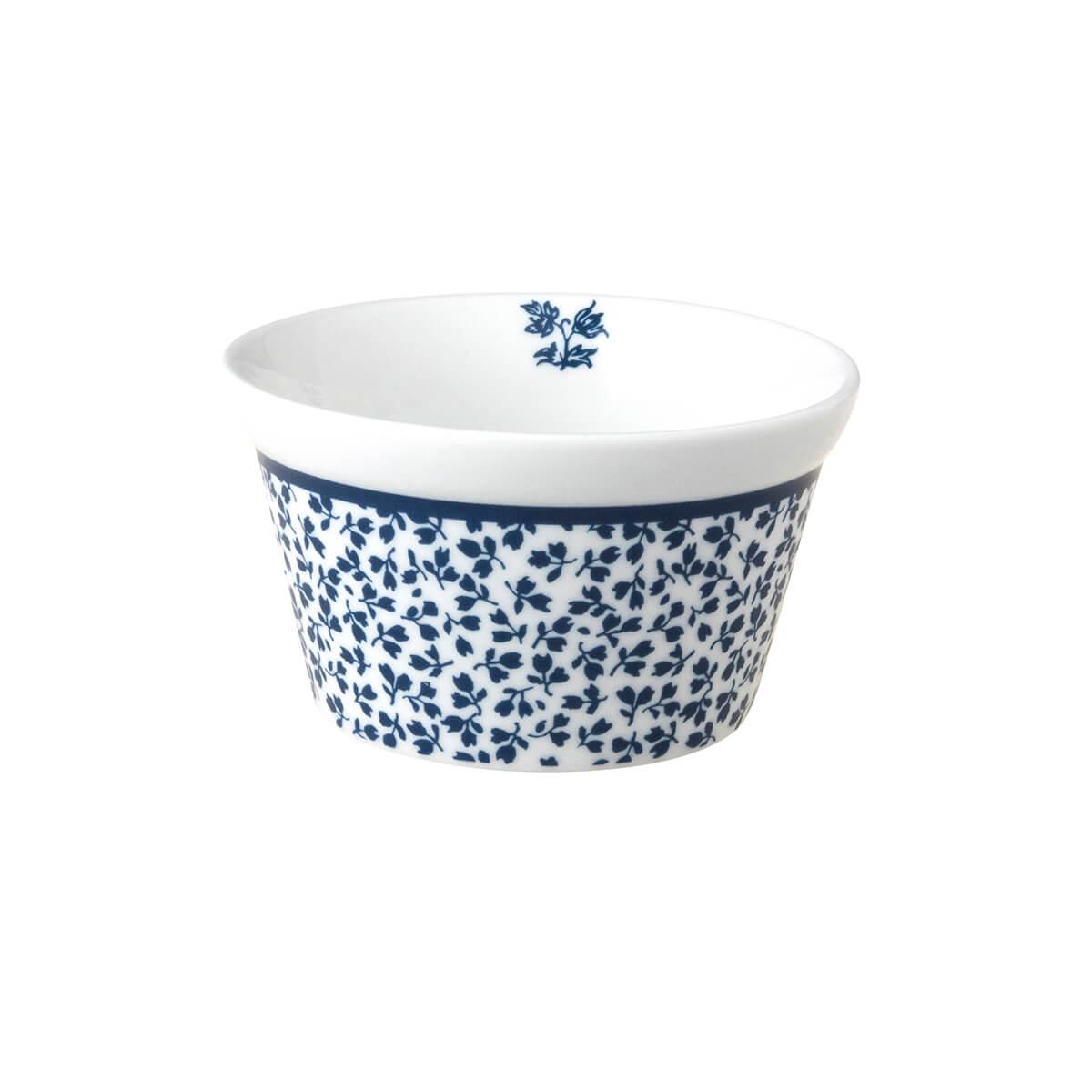 Онлайн каталог PROMENU: Форма порционная фарфоровая Laura Ashley BLUEPRINT, 9 см, белый в синий мелкий цветок                                   179361