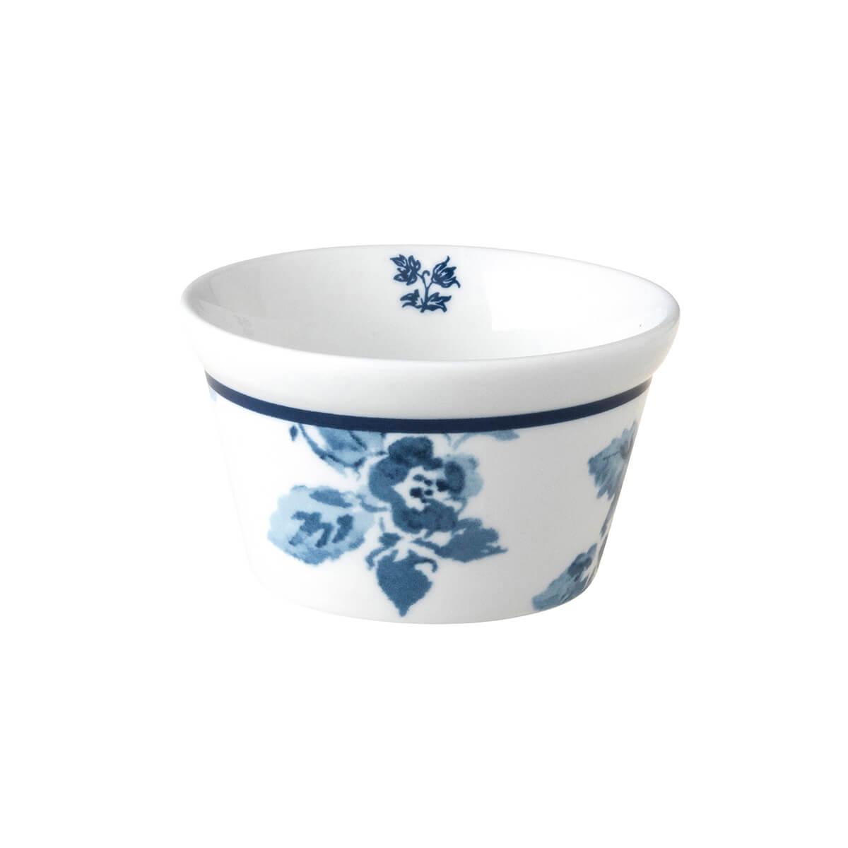 Онлайн каталог PROMENU: Форма порционная фарфоровая Laura Ashley BLUEPRINT, 9 см, белый с синими розами                               179359